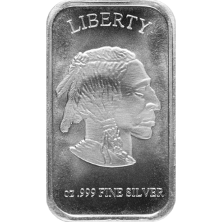 1 oz. Silver Buffalo Bar