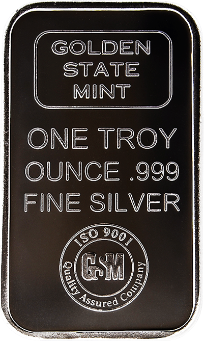 1 oz. Silver Bar - Golden State Mint