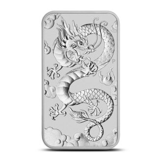 2019 1 oz. Australian Silver Dragon (Rectangular)