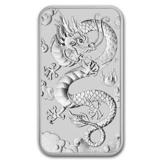 2019 1 oz. Australian Silver Dragon Rectangular - Tube of 20