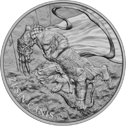 2018 1 oz. Korean Silver ZI:SIN - Canis Series