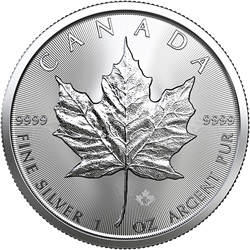 2019 1 oz. Canadian Silver Maple Leaf (BU)