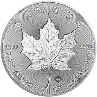 2019 1 oz. Canadian Silver Maple Leaf Incuse (BU)