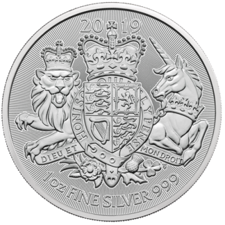 2019 1 oz Great Britain Silver Royal Arms (BU)