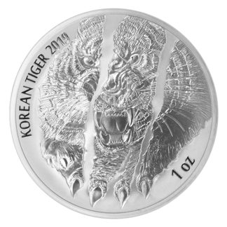 2019 1 oz. Korean Silver Tiger (BU)