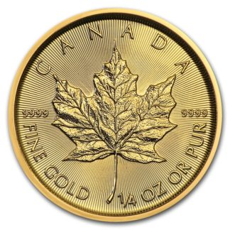 2019 1/4 oz. Canadian Gold Maple Leaf (BU)