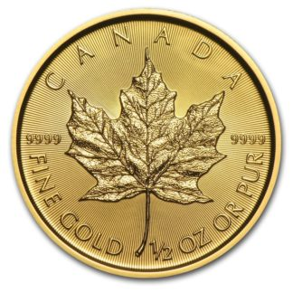 2019 1/2 oz. Canadian Gold Maple Leaf (BU)