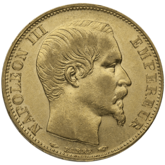 French Gold 20 Franc Napoleon III (Dates/Types Vary)