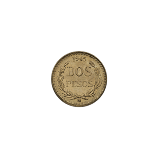 Mexican Gold 2 Peso (Random Year)