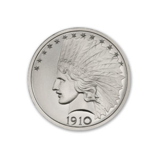 2 oz. Silver Round Indian - Intaglio Mint (BU)