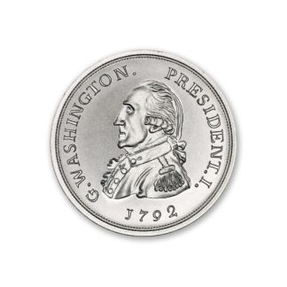 2 oz. Silver Round George Washington - Intaglio Mint (BU)