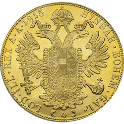 4 Ducat Austrian Gold Coin (Types/Dates Vary)
