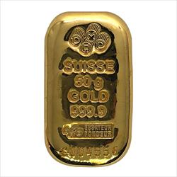 50 Gram PAMP Gold Bar Cast