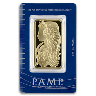 50 Gram Gold Bar - PAMP Fortuna w/Assay (BU)