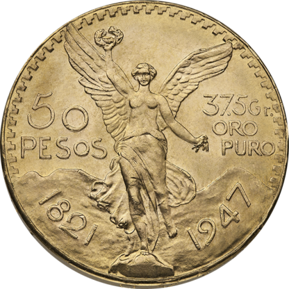 Mexican Gold 50 Peso (Dates/Types Vary)
