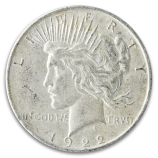 Circulated American Silver Peace Dollar (Dates Vary)