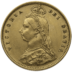 1/2 Sovereign English Gold (Dates/Types Vary)