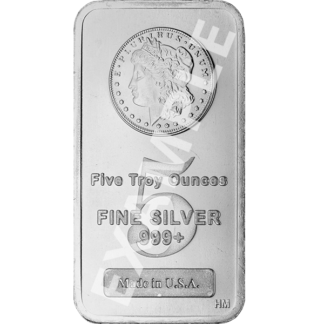 5 oz. Silver Bar - (Types Vary)