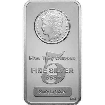 5 oz. Silver Morgan Bar