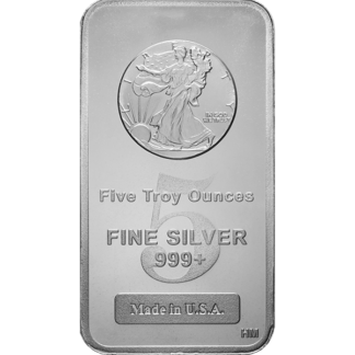 5 oz. Silver Walking Liberty Bar