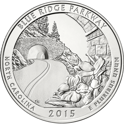 2015 5 oz. America the Beautiful - Blue Ridge Parkway (BU)
