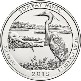 2015 5 oz. Silver America the Beautiful Bombay Hook Delaware (BU)