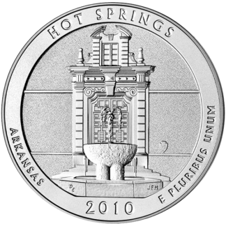 2010 5 oz. Silver America the Beautiful - Hot Springs, Arkansas (BU)