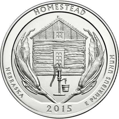 2015 5 oz. Silver American the Beautiful - Homestead (BU)
