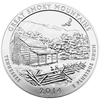2014 5 oz. Silver America the Beautiful Great Smoky Mountains (BU)