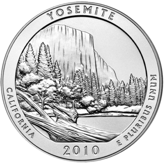 2010 5 oz. Silver America the Beautiful - Yosemite National Park (BU)
