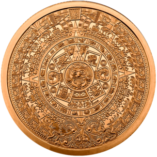 5 oz. Copper Round Aztec Calendar