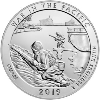 2019 5 oz. Silver America the Beautiful - War In The Pacific National Historical Park (BU)