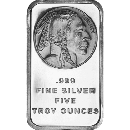 5 oz. Silver Buffalo Bar