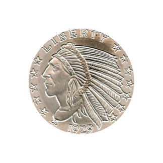5 oz. Silver Round Incuse Indian Design - Golden State Mint