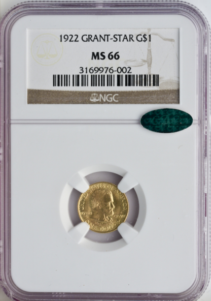 1922 $1 Grant Commemorative NGC MS66 CAC