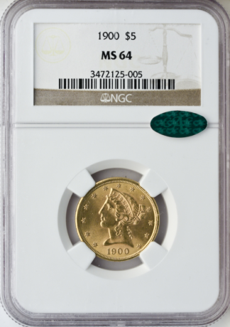 1900 $5 Liberty NGC MS64 CAC