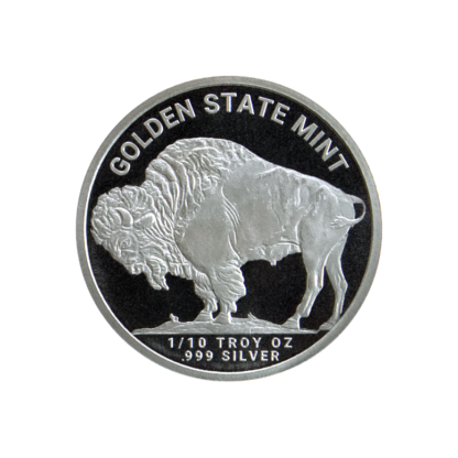 1/10 oz. Silver Buffalo Round - Golden State Mint