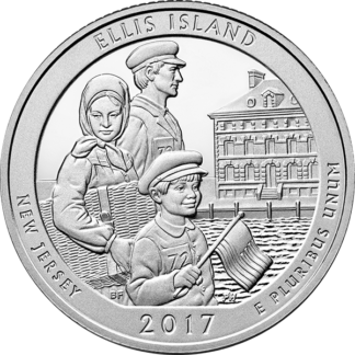2017 5 oz. Silver America the Beautiful - Ellis Island National Monument (BU)