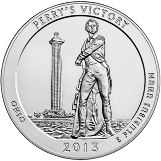 2013 5 oz. Silver America the Beautiful - Perry's Victory Ohio (BU)