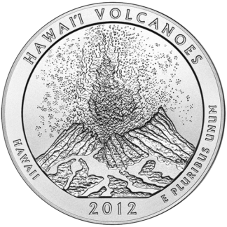 2012 5 oz. Silver America the Beautiful - Hawaii National Park (BU)
