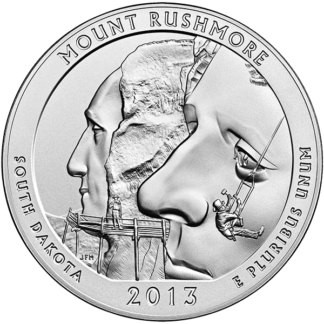 2013 5 oz. Silver America the Beautiful - Mount Rushmore (BU)