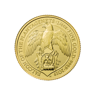 2019 1/4 oz. Queen's Beast - Gold Falcon