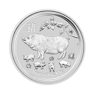 2019 1/2 oz. Perth Mint Silver Pig (BU)
