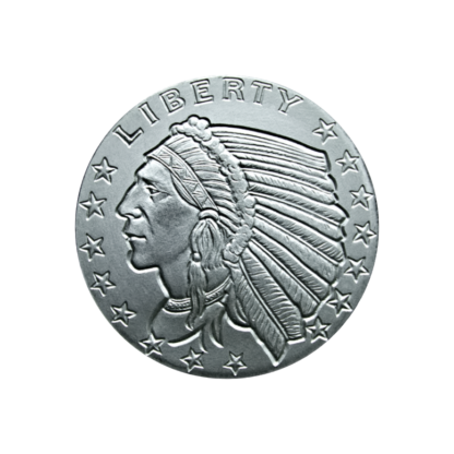 1/2 oz. Silver Indian Round Incuse - Golden State Mint