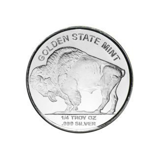 1/4 oz. Silver Round Buffalo - Golden State Mint (BU)