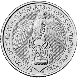 2020 1 oz. Platinum Queen's Beast Falcon