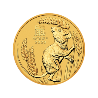 2020 1/2 oz. Perth Mint Gold Mouse (BU)