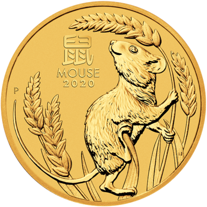2020 2 oz. Perth Mint Gold Mouse (BU)