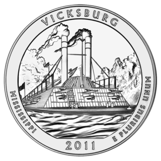 2011 5 oz. Silver America the Beautiful - Vicksburg (BU)