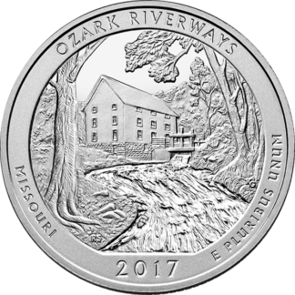 2010 5 oz. Silver America the Beautiful - Ozark National Scenic Route (BU)